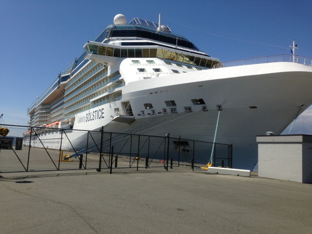 May 14, 2013 largest Cruise Ship docked at Ogden  Point