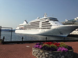 Silversea  - Ogden Point   Sept 2014