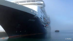ms Zaandam , tenders in Fog