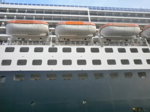 The huge flank of QM2