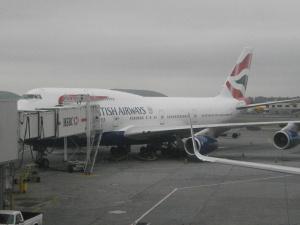 BA 112 pre departure at Terminal &, JFK airport