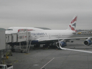 BA 112 pre departure at Terminal &, JFK airport