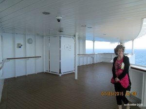 QM2 Observation area